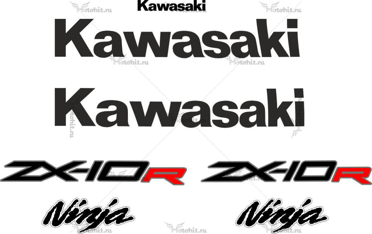 Комплект наклеек Kawasaki ZX-10-R 2012