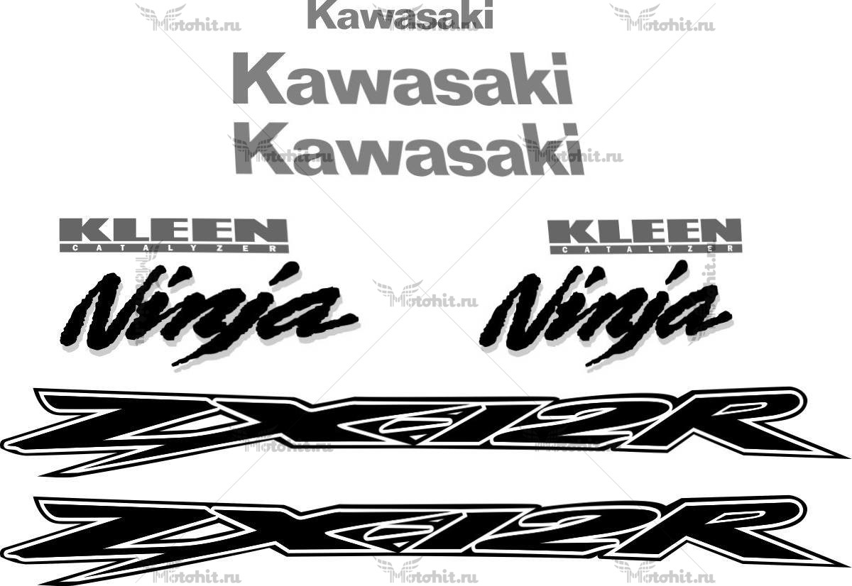 Комплект наклеек Kawasaki ZX-12-R 2000-2005