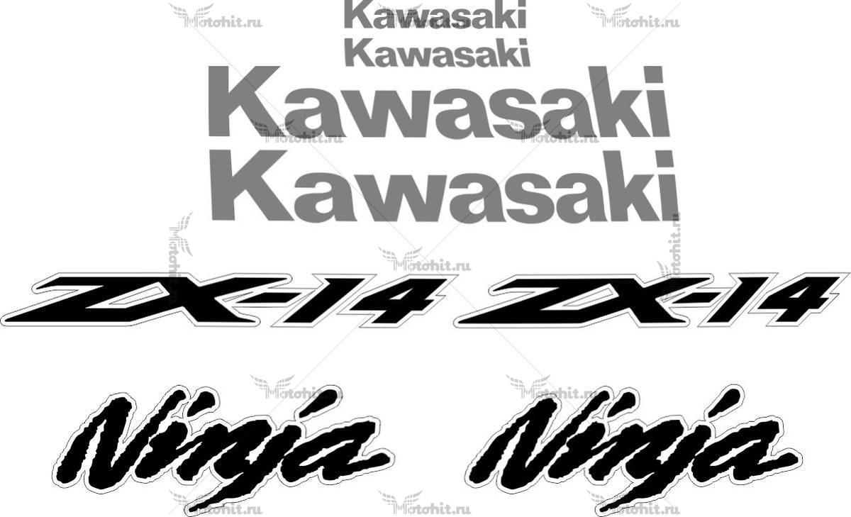 Комплект наклеек Kawasaki ZZR-1400 (ZX-14) 2011