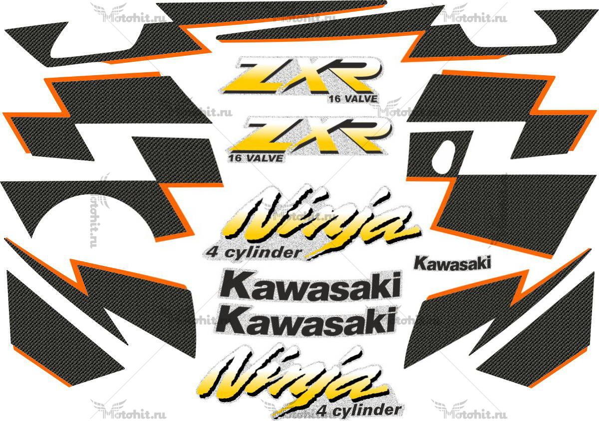 Комплект наклеек Kawasaki ZX-250