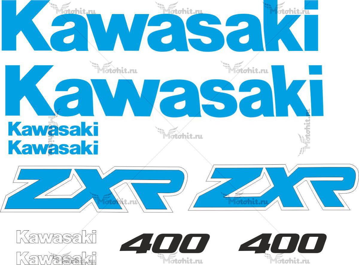 Комплект наклеек Kawasaki ZXR-400 1989