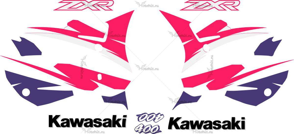 Комплект наклеек Kawasaki ZXR-400 2001-2003
