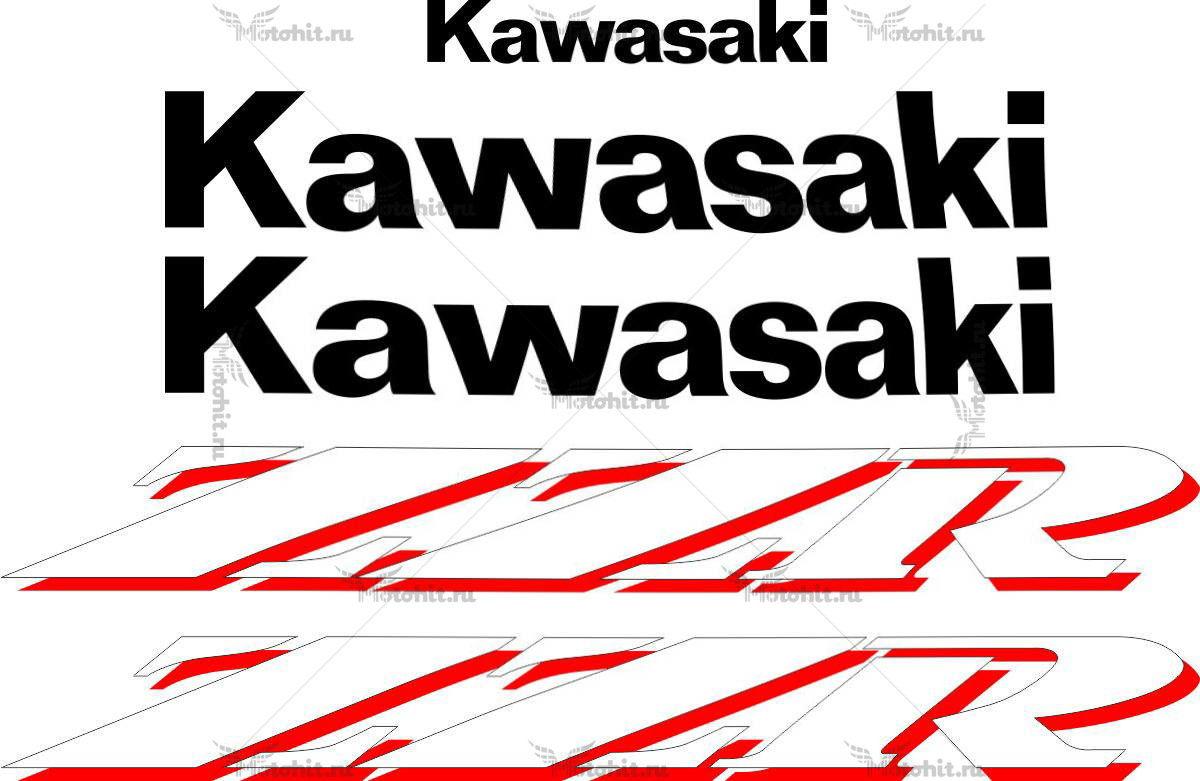 Комплект наклеек Kawasaki ZZR-250 1990-2006