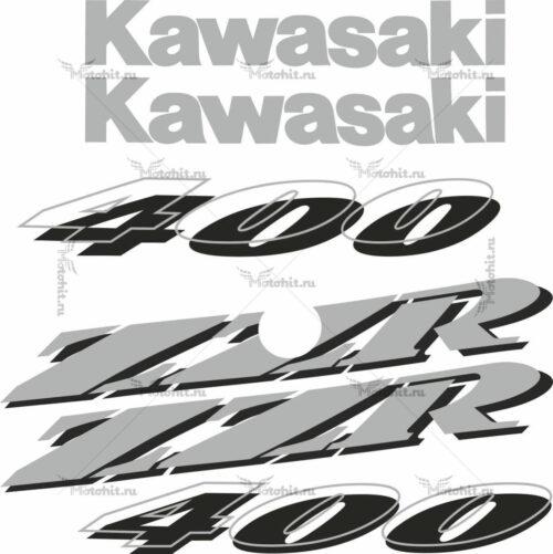 Комплект наклеек Kawasaki ZZR-400