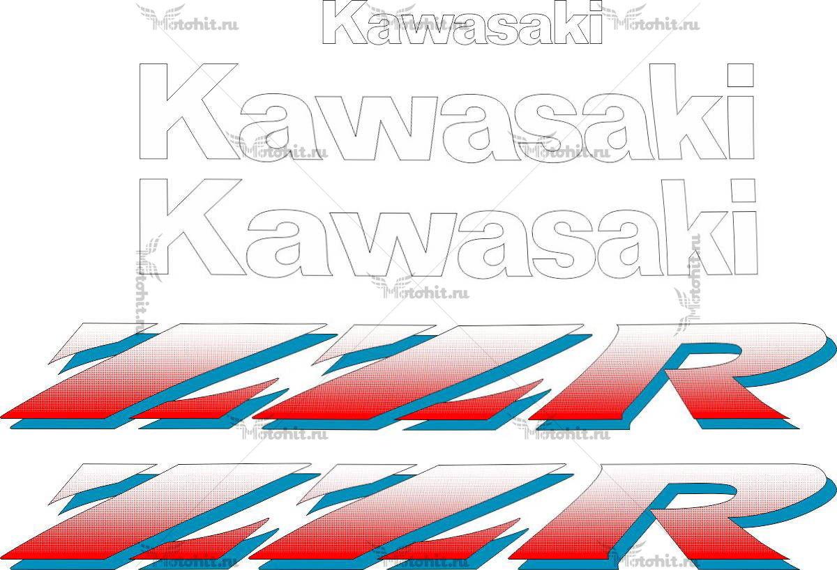 Комплект наклеек Kawasaki ZZR-400 1990-2003