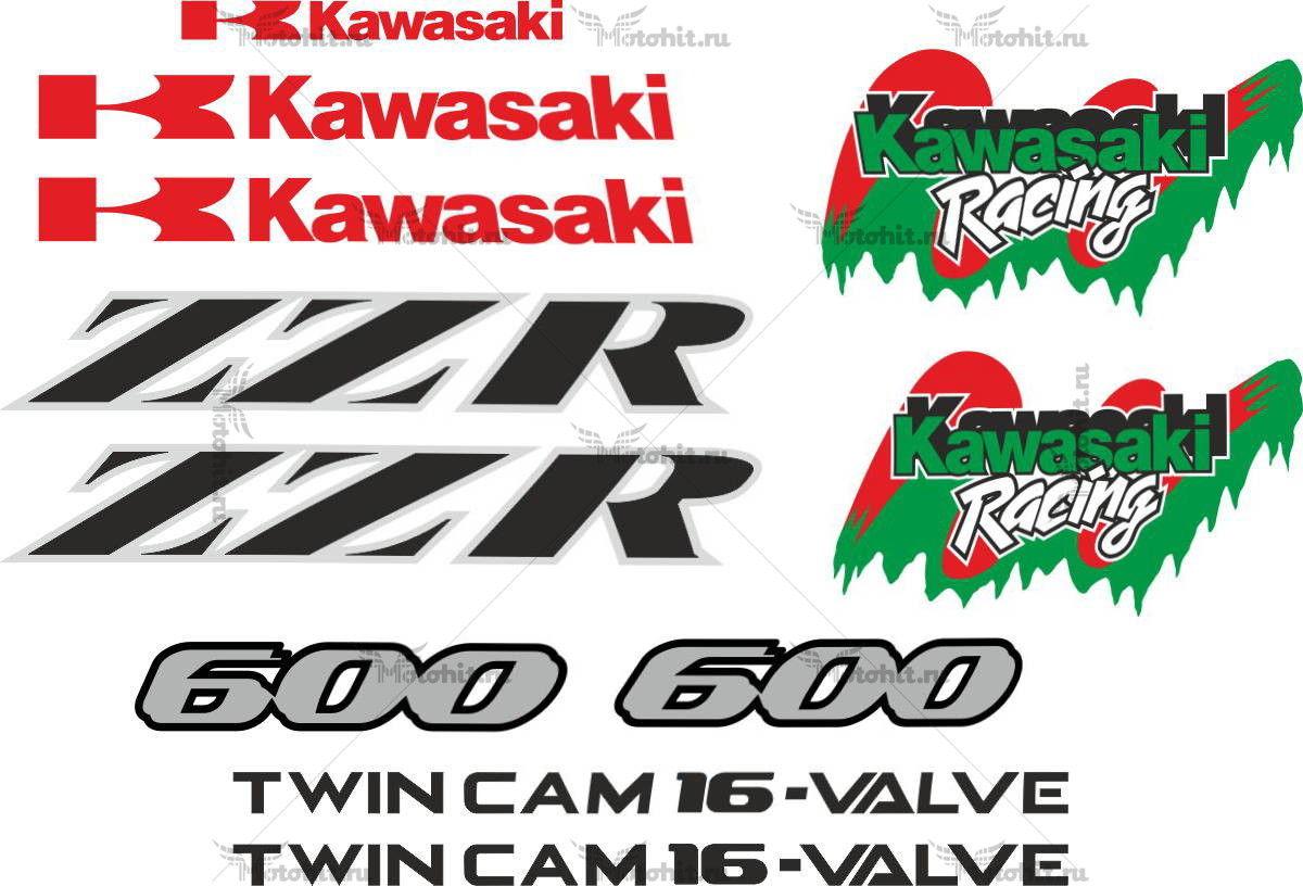 Комплект наклеек Kawasaki ZZR-600 2