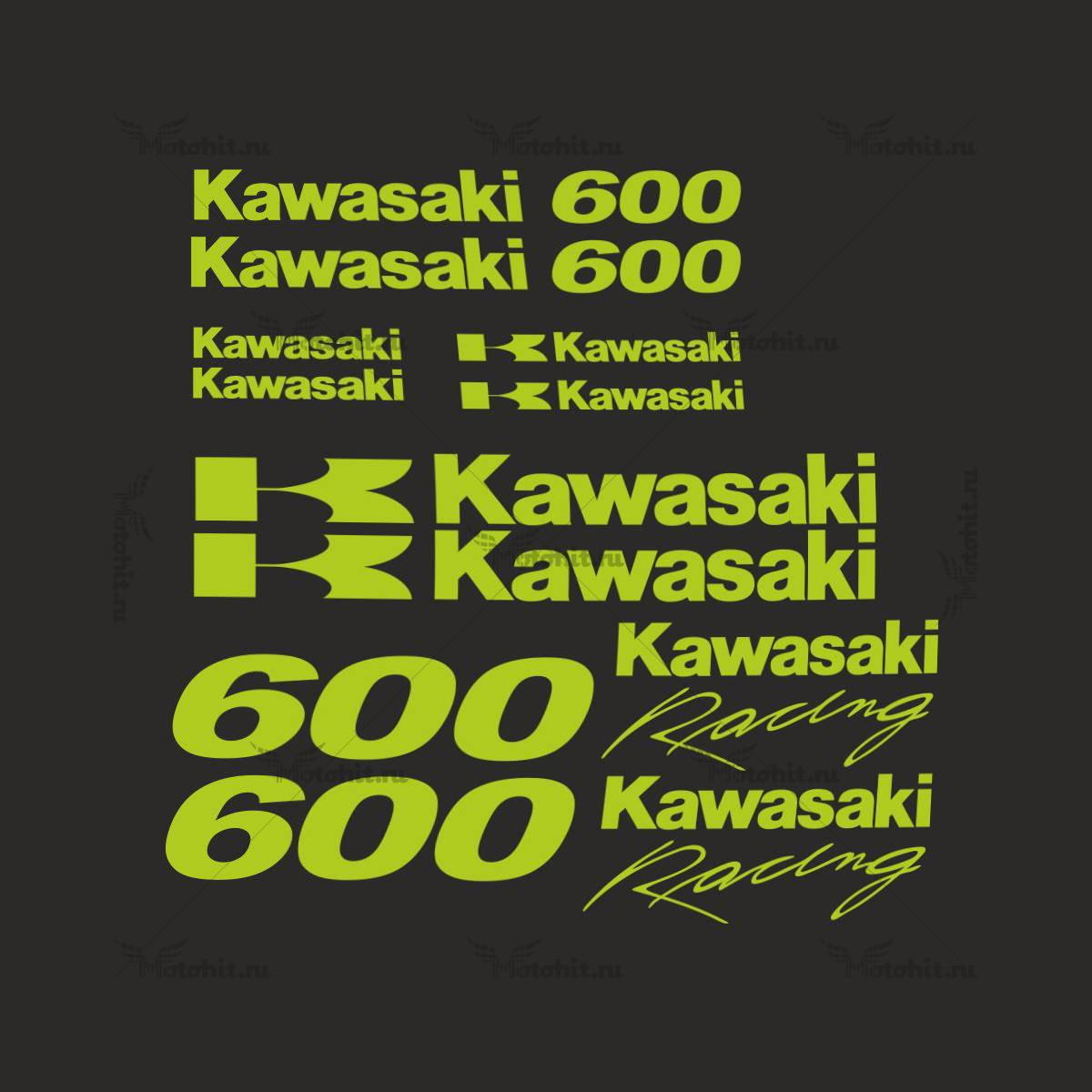 Комплект наклеек Kawasaki ZZR-600 3