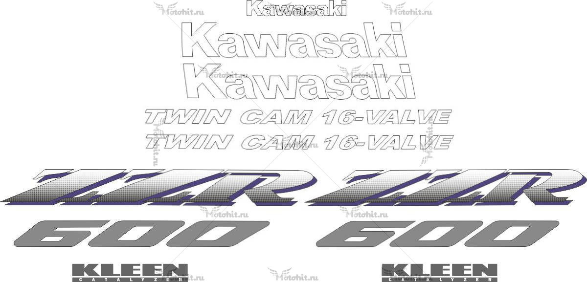 Комплект наклеек Kawasaki ZZR-600 1990-1996