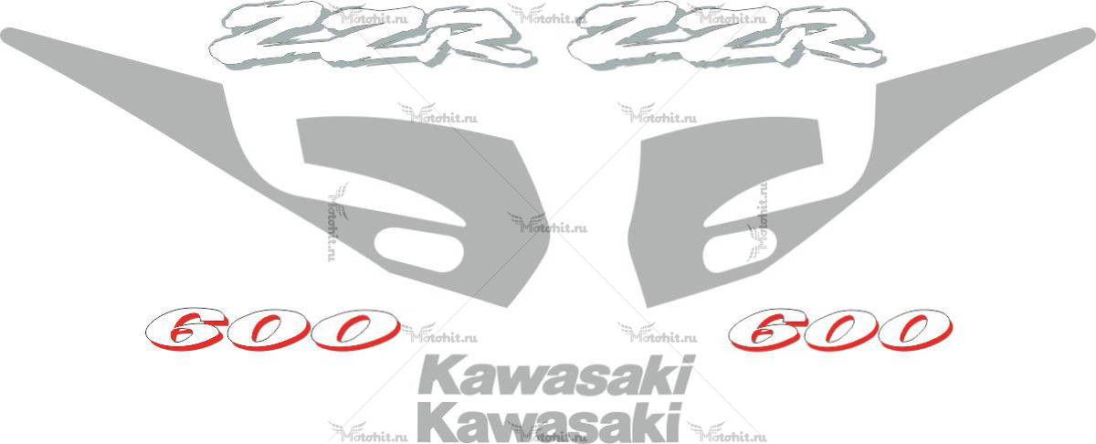 Комплект наклеек Kawasaki ZZR-600 1994