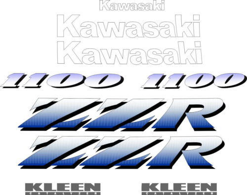 Комплект наклеек Kawasaki ZZR-1100 1993-1994