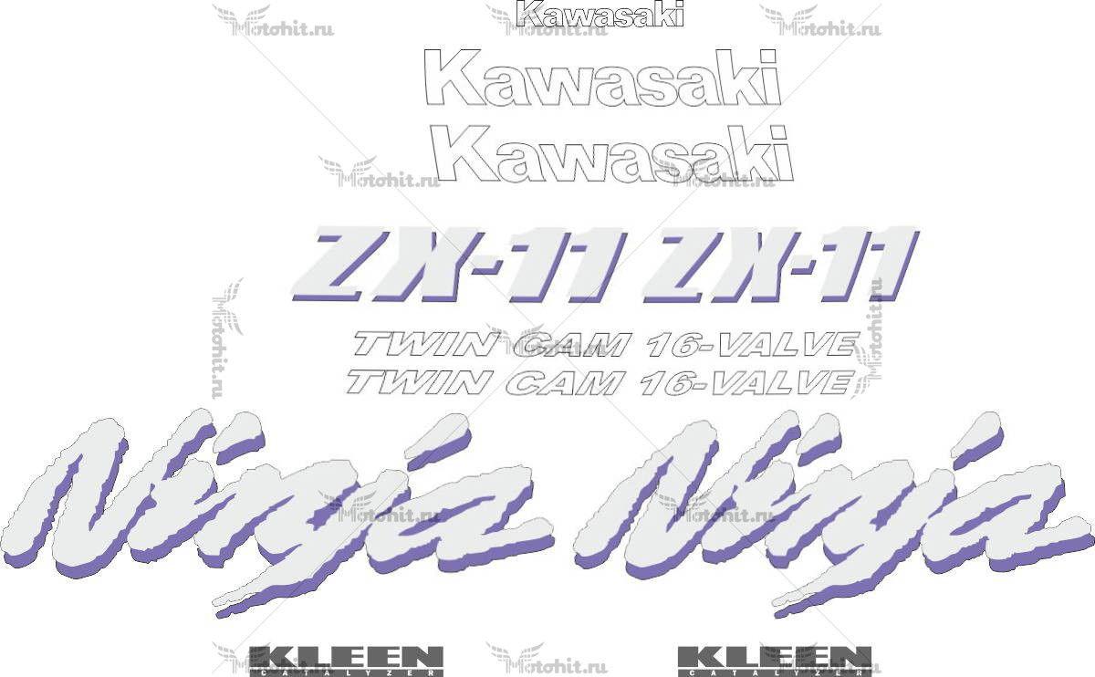 Комплект наклеек Kawasaki ZZR-1100 1998