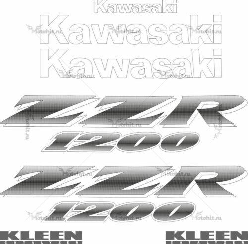 Комплект наклеек Kawasaki ZZR-1200 2000-2003