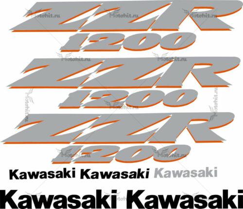 Комплект наклеек Kawasaki ZZR-1200 2002-2005