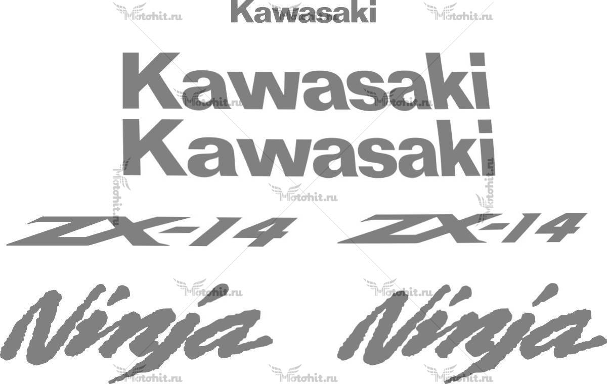 Комплект наклеек Kawasaki ZZR-1400 2006