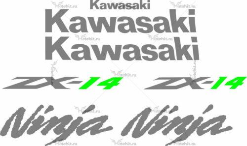 Комплект наклеек Kawasaki ZZR-1400 2009