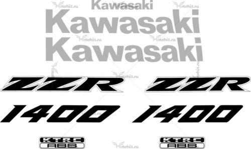 Комплект наклеек Kawasaki ZZR-1400 2011