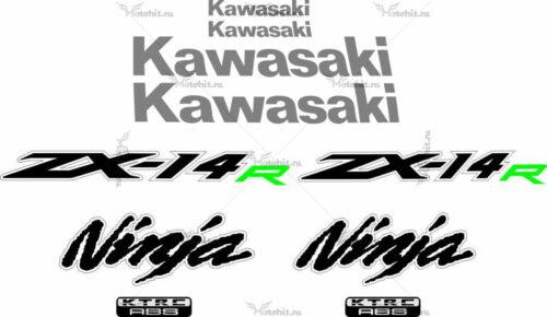 Комплект наклеек Kawasaki ZZR-1400 2013-2014 2COLOR