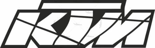Наклейка KTM LOGO-CUT-BLACK