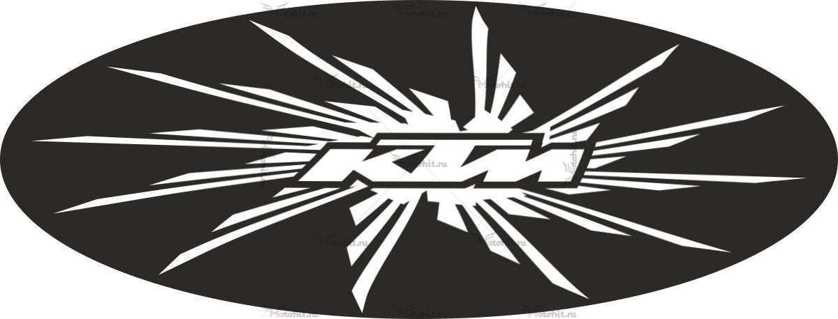 Наклейка KTM LOGO-SUN-BLACK