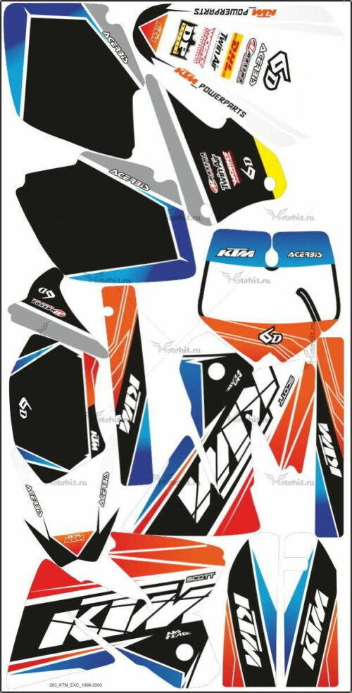 Комплект наклеек KTM EXC 1998-2000