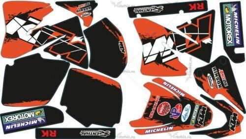 Комплект наклеек KTM EXC 2001-2002 MICHELIN1