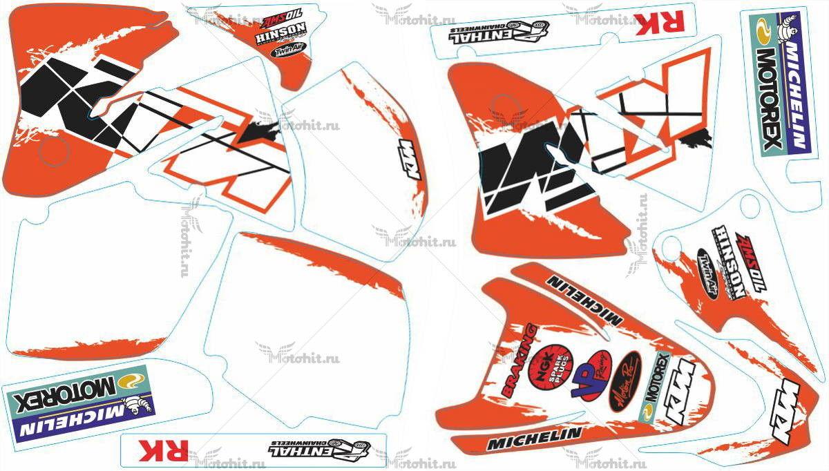 Комплект наклеек KTM EXC 2001-2002 MICHELIN1-WHITE