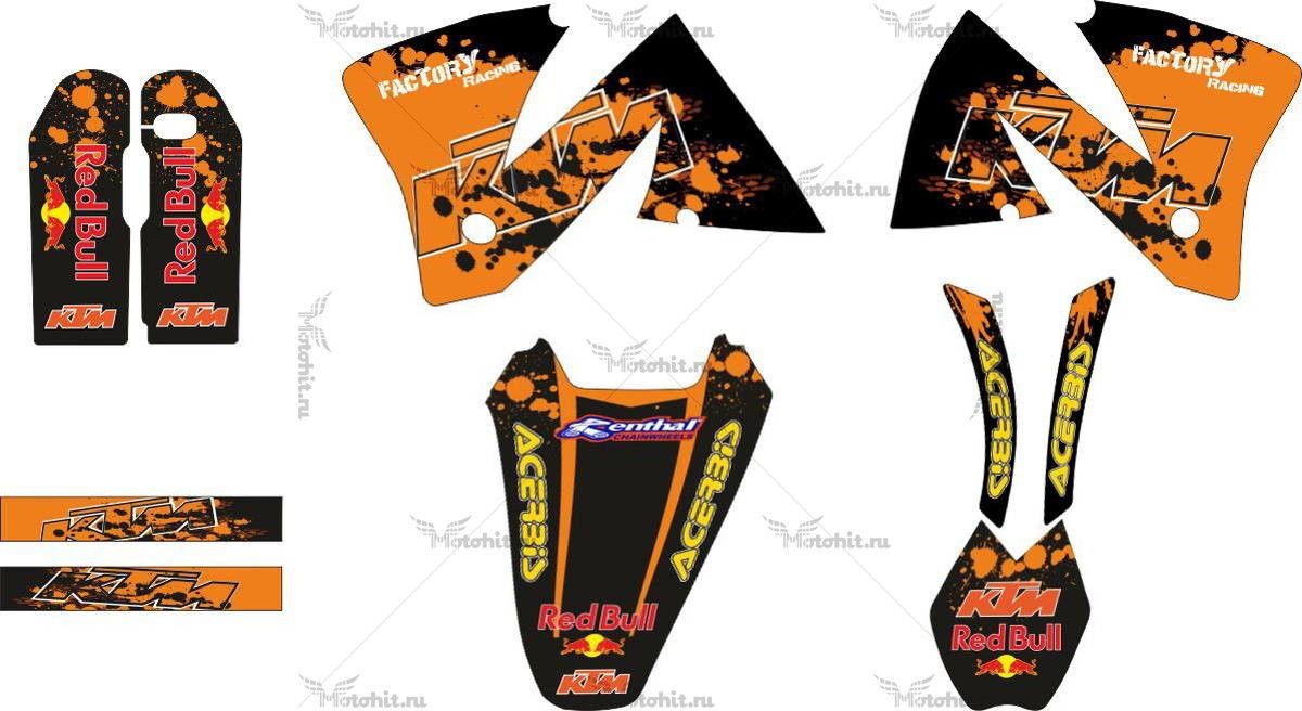 Комплект наклеек KTM EXC 2001 URX