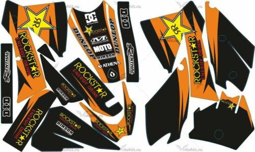 Комплект наклеек KTM EXC 2003-2004 ROCKSTAR-8