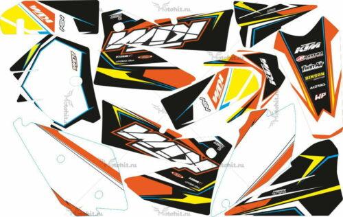 Комплект наклеек KTM EXC 2005-2007