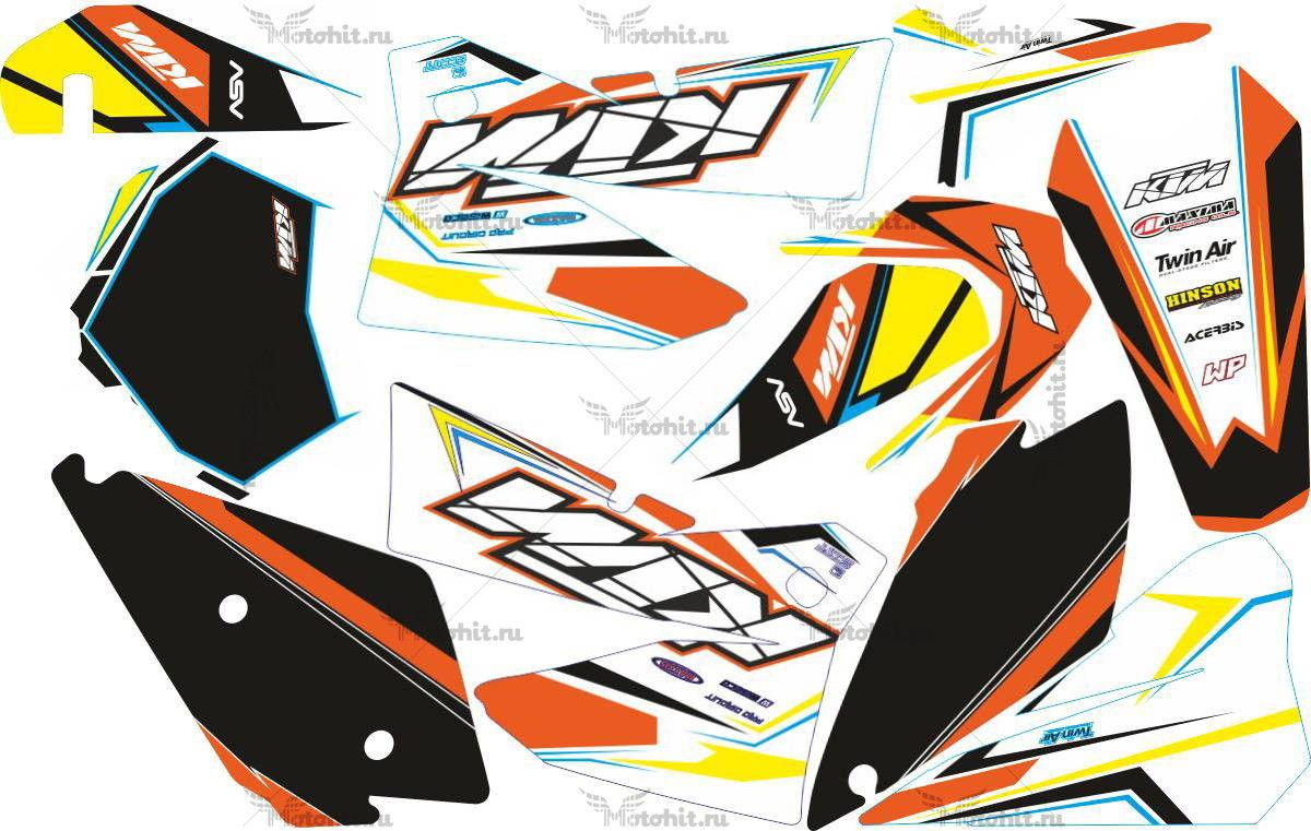 Комплект наклеек KTM EXC 2005-2007 BLACK
