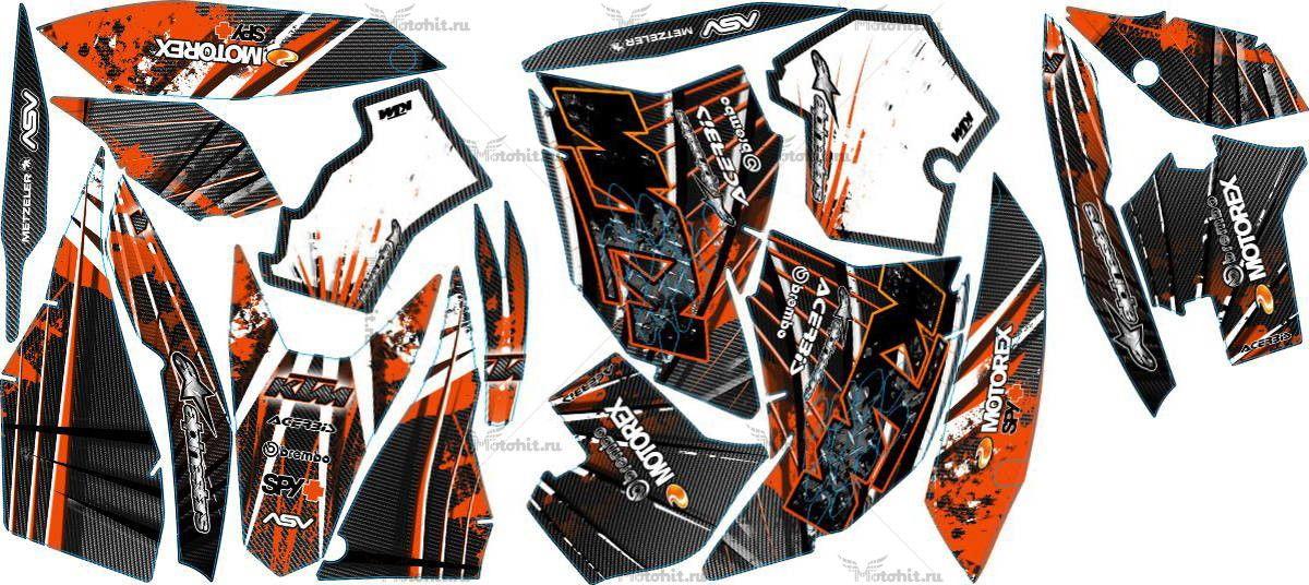 Комплект наклеек KTM EXC 2008-2011 CARBONWAR1