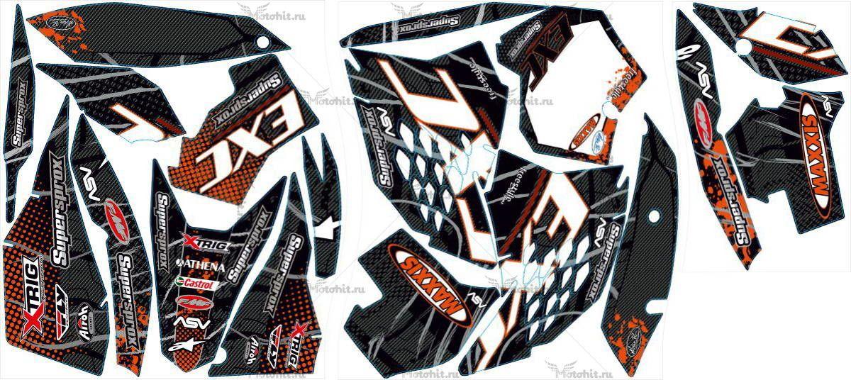 Комплект наклеек KTM EXC 2008-2011 MAXXIS2-CARBON