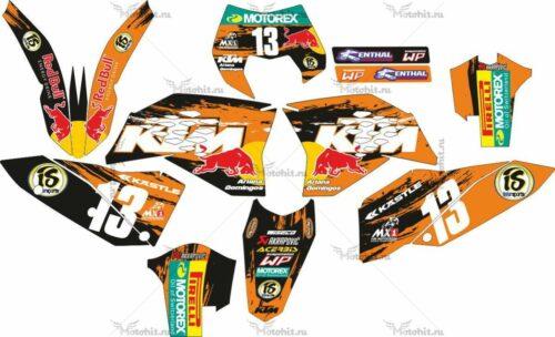 Комплект наклеек KTM EXC-125