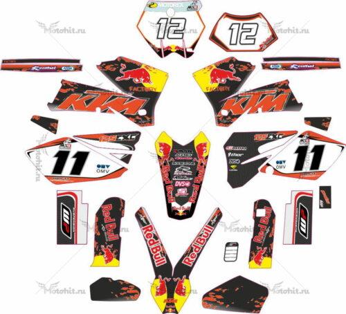 Комплект наклеек KTM EXC-125 2005-2007