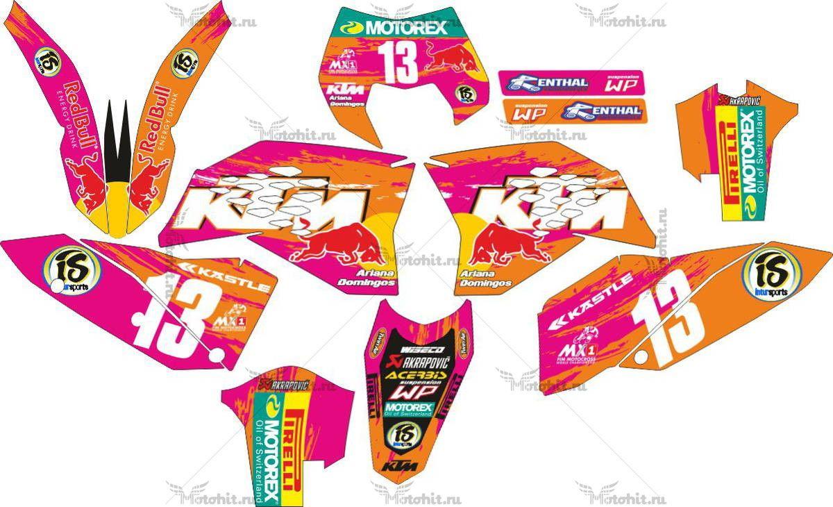 Комплект наклеек KTM EXC-125 2008-2011
