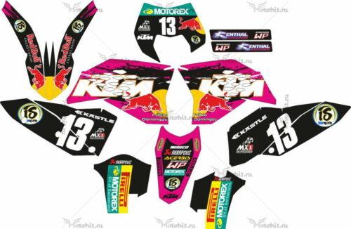 Комплект наклеек KTM EXC-125 2008-2011 BLACK