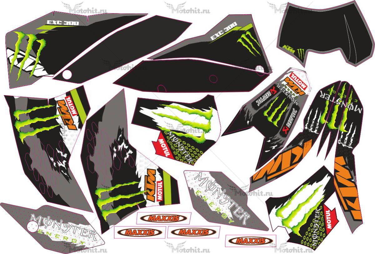 Комплект наклеек KTM EXC-300 MONSTER