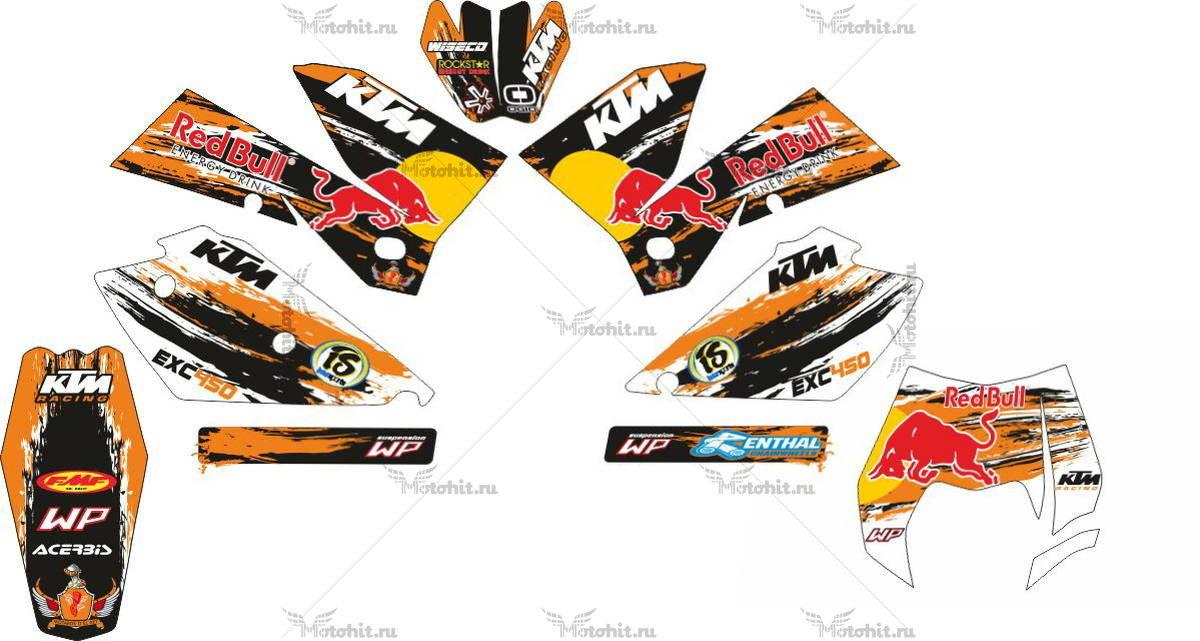 Комплект наклеек KTM EXC-450 2