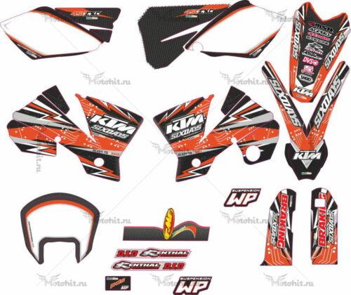 Комплект наклеек KTM EXC-450 2003-2005 FREERIDE