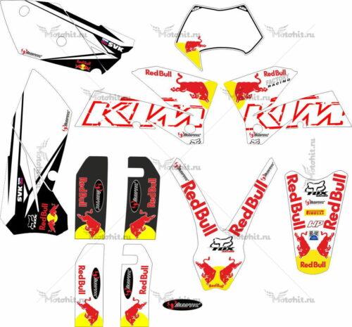 Комплект наклеек KTM EXC-450 2005-2007