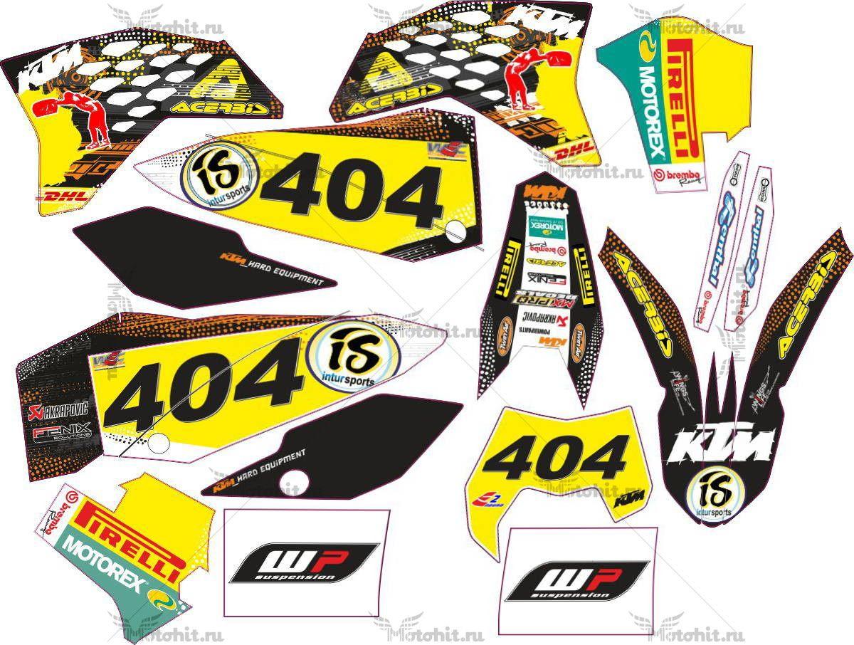 Комплект наклеек KTM EXC-450 SEDLACEK