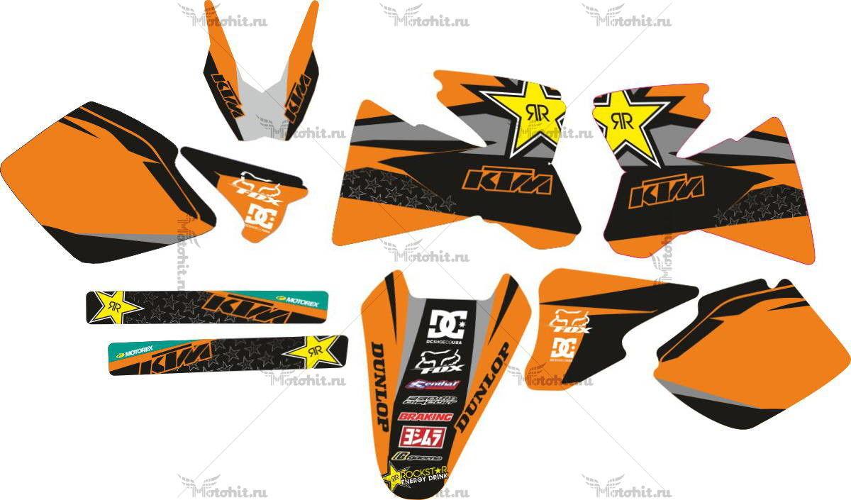 Комплект наклеек KTM EXC-520 2000 ROCK-STAR-PILNAS