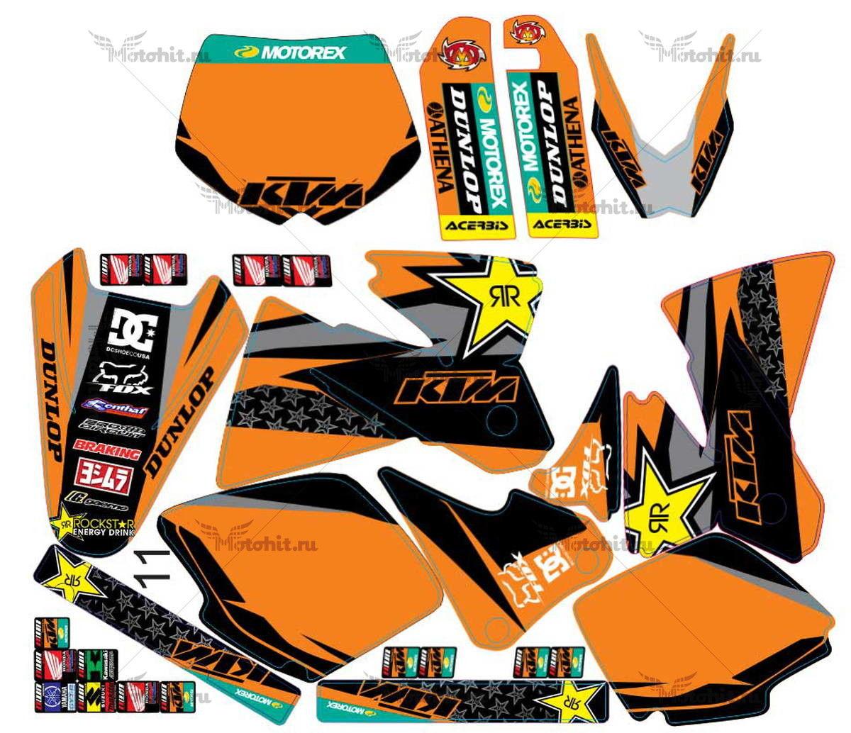 Комплект наклеек KTM EXC-520 2000 ROCK-STAR-PILNAS2
