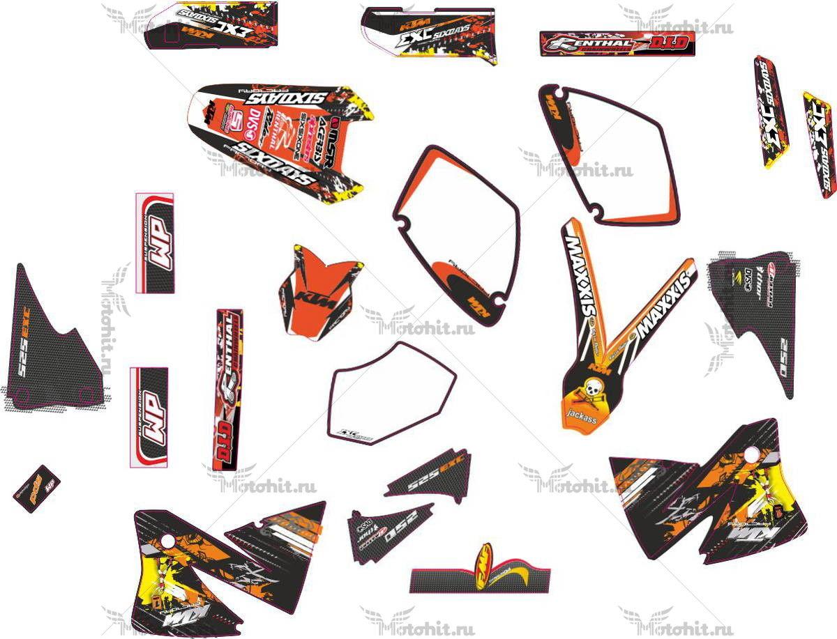 Комплект наклеек KTM EXC-525 2000-2003 FACTORY
