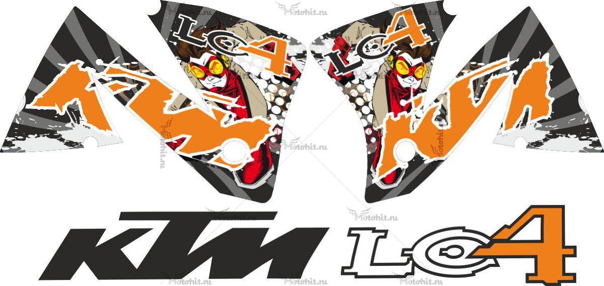 Комплект наклеек KTM LC4 IMPULS