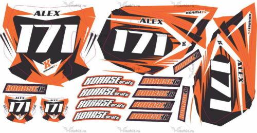 Комплект наклеек KTM SX-50 2007 NUMBER-PLATES