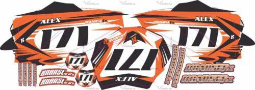 Комплект наклеек KTM SX-50 2011 NUMBER-PLATES
