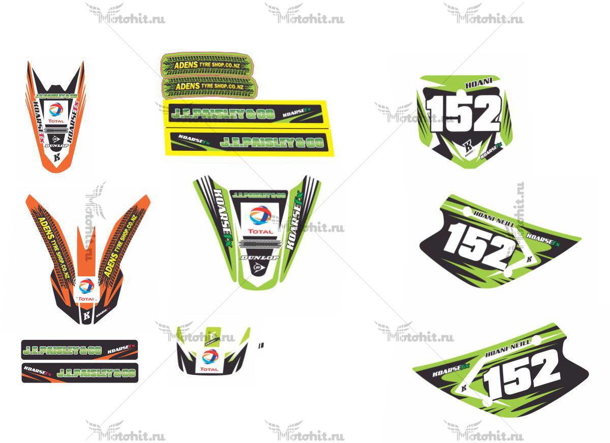 Комплект наклеек KTM SX-65 2010 HOANI