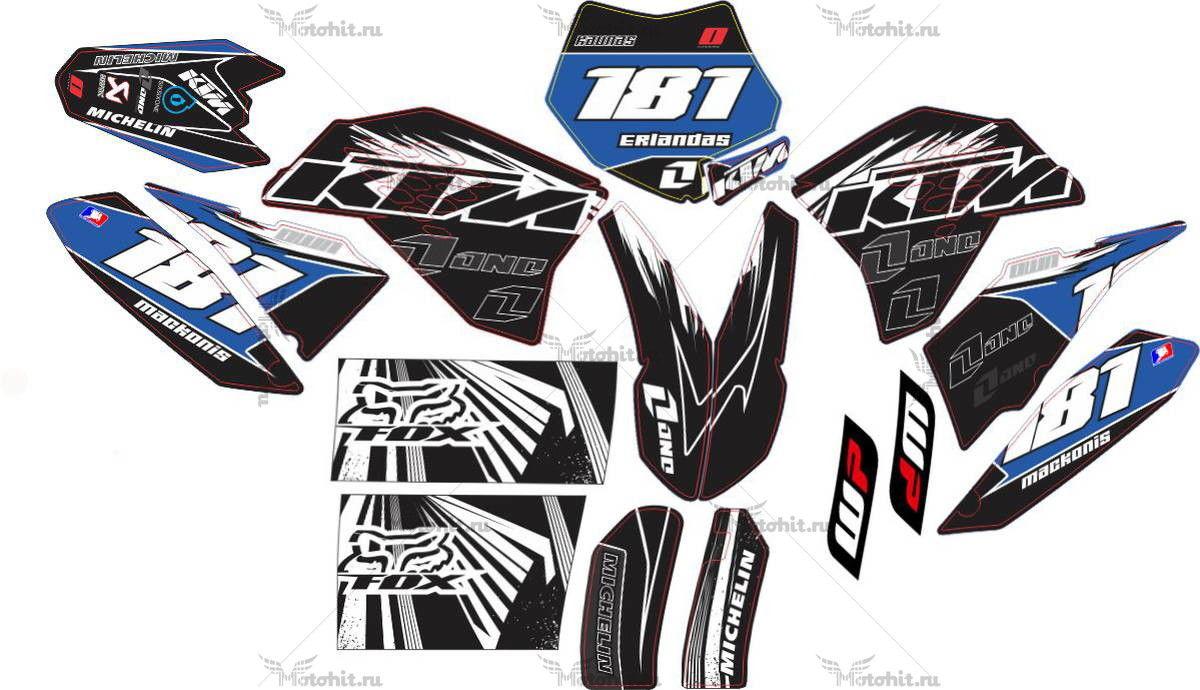 Комплект наклеек KTM SX-65 2011-2013