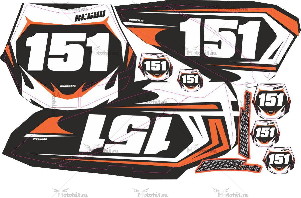 Комплект наклеек KTM SX-65 2011 G2